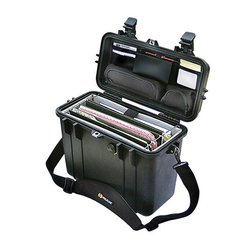 Pelican 1430 Case - With Office Divider and Lid Organiser (Yellow)