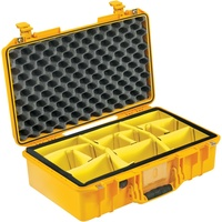 Pelican 1525 Air Case with Padded Dividers (Yellow)
