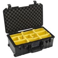 Pelican 1535 Air Case with Padded Dividers (Black)