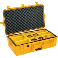 Pelican 1605 Air Case with Padded Dividers (Yellow)