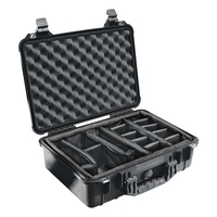 Pelican 1500 Case - With Padded Divider Set